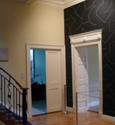 Installation with Sol LeWitt in American Ambassadors Residence Ireland