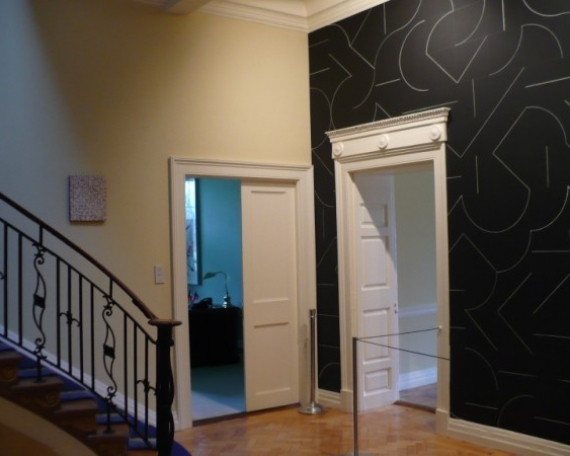 Installation with Sol LeWitt in American Ambassadors Residence Ireland